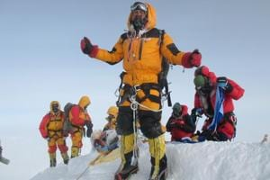 Satyarup Siddhanta after scaling  Mt Everest in 2016