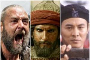 Russell Crowe as Noah, Ranveer Singh as Alaudin Khilji, and Jet Li.