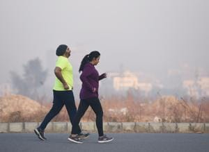 The minimum temperature in Gurgaon over the last one week has been hovering around 8°C.
