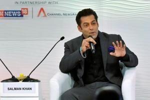Salman Khan speaks at the Hindustan Times Leadership Summit in New Delhi, on Thursday.
