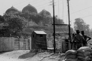 The Babri Masjid in Ayodhya, Nov, 1990. This week it will be 25 years since it was demolished, and it's legacy continues to play out in Indian politics