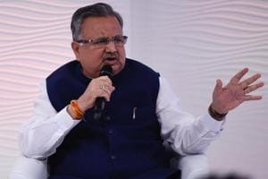 Chhattisgarh chief minister Dr Raman Singh at the Hindustan Times Leadership Summit in New Delhi on Friday.