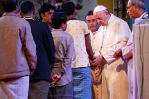 Pope Francis uses word 'Rohingya' in public for first time on Asia...