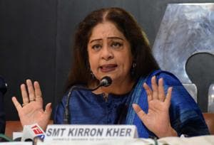 By the way: Kirron Kher's fault? She is the next-door aunty