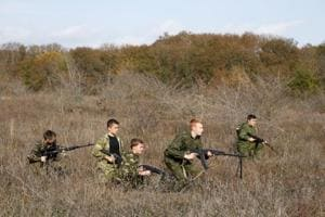 Photos: Roused by Putin's 'Crimean Spring', young...