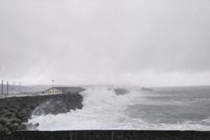 Heavy rains hammered the southern coast of Tamil Nadu and Kerala.