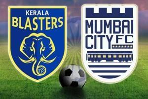 Kerala Blasters FC vs MumbaiCity FC, ISL 2017-18, live football...