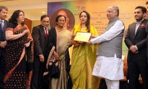 Hema Malini honoured with 'Naushad Samman'