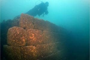 Divers discover ruins of ancient 3,000-year-old fortress in a Turkish...