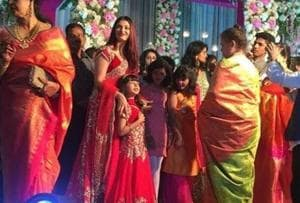 Aishwarya Rai stuns in red at cousin's wedding and Aaradhya is her...