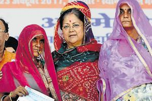 Rajasthan chief minister Vasundhara Raje faced criticism for bringing in the ordinance, which the opposition and activists  said would protect the corrupt.