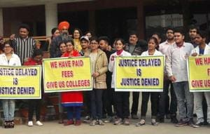 A month after Chintpurni medical college shut down, students take...