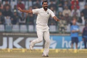 Mohammed Shami picked two wickets on Day 3 of the third India vs Sri Lanka Test at the Feroz Shah Kotla.