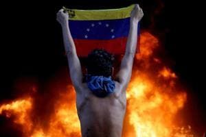 Photos: A year of anti-Maduro protests and economic unrest in...