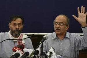 Yogendra Yadav and Prashant Bhushan had formed Swaraj India after being sacked from AAP for alleged anti-patry activities.