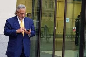 Vijay Mallya at the Westminster Magistrates Court in London on Tuesday, where his extradition case is being heard.