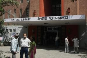 The Delhi University Central Library in North Campus.