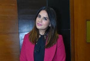 Richa Chadda promotes Fukrey Returns in New Delhi.