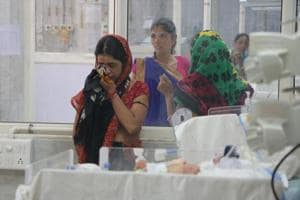 A neonatal care ward of a hospital in Ahmedabad, Gujarat.