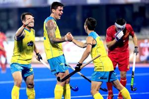 Title holders Australia overpowered Spain 4-1 to book their place in...