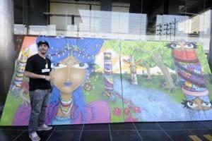 Brazilian Graffiti artist uses Lolita to capture history of 'others'