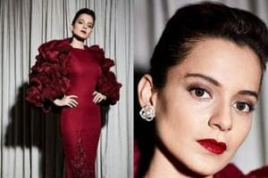 Kangana Ranaut goes for all-out glamour in figure-hugging red gown