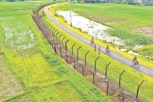 File picture of the Changrabandha border between India and Bangladesh in Mekhliganj Block in Cooch Behar district of Bengal.
