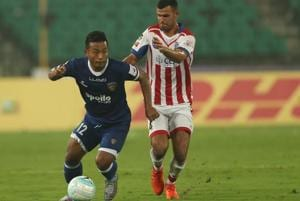 Chennaiyin FC left it very late to record a hat-trick of victories as...