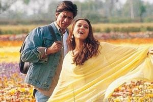 Shah Rukh Khan and Preity Zinta in a still from Veer Zara.