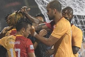 East Bengal cruised to a comfortable 5-1 win over Shillong Lajong in the I-League on Saturday.