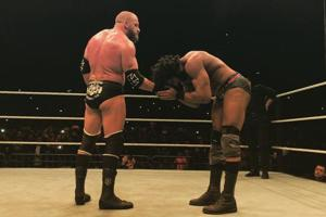 Triple H defeated Jinder Mahal in the main event of WWELive India in New Delhi on Saturday.