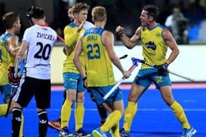 Australia cruised to a comfortable 3-0 win over Germany in their semifinal match at the Hockey World League Final.