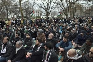 Muslims pray outside White House to protest Trump Jerusalem move