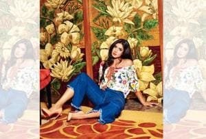 Mithali Raj doesn't believe that sports people should only live in sportswear.  Mithali wears an off-shoulder floral top by Ranna Gill, flared denims from Zara and stilettos by Christian Louboutin. (Styling by Shamali Singh; Art direction by Veenu Singh; Make-up and hair by Michel from Vidya Tikari Studio;  Location Courtesy: Shangri-La Hotel, Bengaluru)