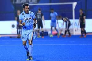 Harmanpreet Singh scored the winner for India vs Germany in the Hockey World League Final bronze-medal play-off match at Kalinga Stadium in Bhubaneswar on Sunday