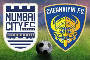 Live - Mumbai City FC vs Chennaiyin FC, Indian Super League football,...
