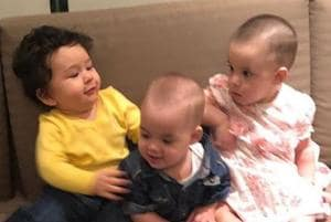 You can't miss Taimur bonding with Karan Johar's twins Yash, Roohi at...