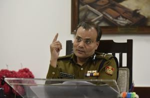 Police commissioner Amulya Patnaik during an interaction with Hindustan Times at the Delhi Police headquarters.
