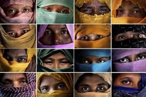 Rape of Rohingya women by Myanmar armed  forces sweeping and...