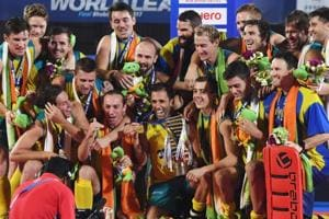 Australia's Kookaburras have defended the Hockey World League title...