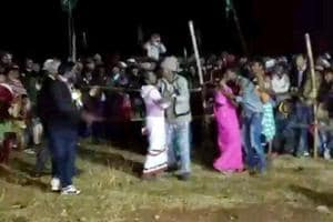Jharkhand Mukti Morcha's Littipara legislator had organised a kissing contest at his native village Dumaria.