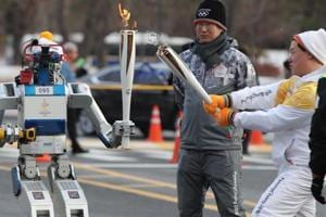 Day 41 of the PyeongChang 2018 Winter Olympic torch relay on Monday...