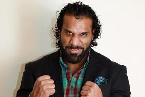 Indo-Canadian professional wrestler Yuvraj Singh Dhesi, known in the ring as Jinder Mahal, on a visit to Delhi.