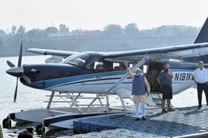 Gujarat elections: Congress mocks PM Modi's seaplane travel as 'Hawa...