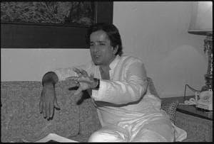 23 December 1982 - Shashi Kapoor - HT Photo by Virendra Prabhakar.