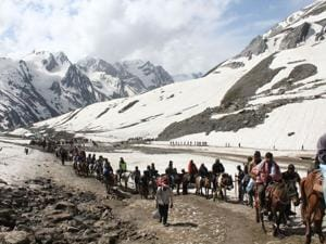 Over 2.6 lakh pilgrims visited the cave shrine in South Kashmir from June 29 to August 7 for their annual pilgrimage.