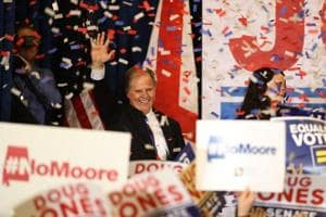 Democrat Doug Jones beats Trump-endorsed Republican Roy Moore for...