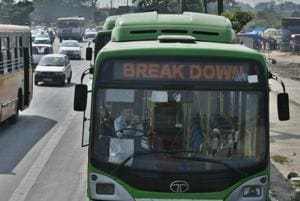 The report, that gauged the state of bus service in Delhi, also found that as many as 700 buses remain unused daily, largely because of breakdowns.