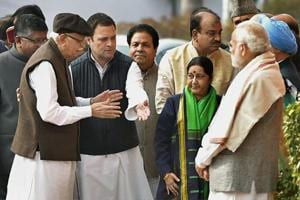 PM Modi gives 'cold shoulder' to opposition leaders at Parliament...