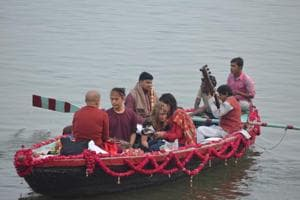 A musical ride on a small boat with five people costs Rs 7,000, Rs 11,000 on a medium-sized boat and Rs 15,000 for a large boat.
